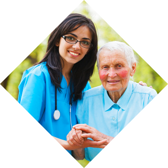 nurse and elderly man