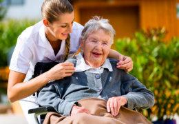 grandma on her wheelchair